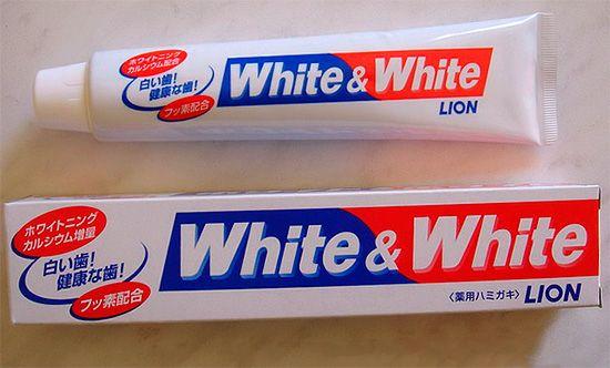Японська зубна паста white & white від lion та відгуки про її застосуванні