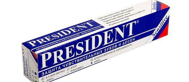 Склад і відгуки стоматологів про зубну пасту president
